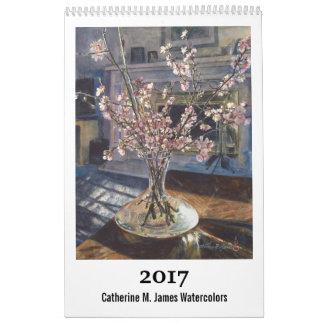 2017 Art Calendar - Catherine M. James Watercolors