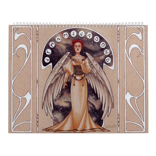 2017 Art Nouveau Ladies Wall Calendars