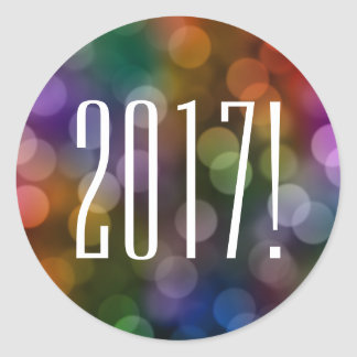 2017 bokeh classic round sticker
