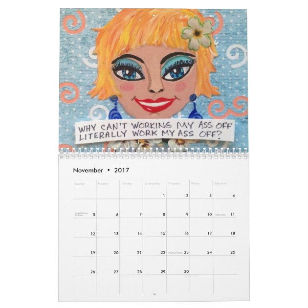 2017 CALENDAR FILLED WITH BAD GIRL ART   Zazzle