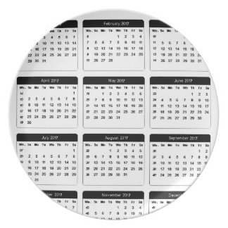 2017 Calendar jGibney The MUSEUM Zazzle Gifts Dinner Plate