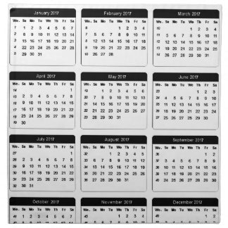 2017 Calendar jGibney The MUSEUM Zazzle Gifts Printed Napkin