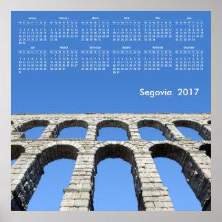 2017 calendar Segovia (Spain) Poster