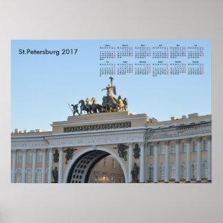 2017 calendar St.Petersburg Poster