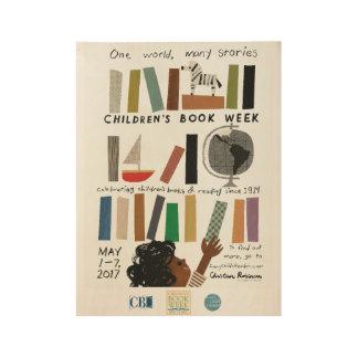 2017 Children's Book Week Wood Poster