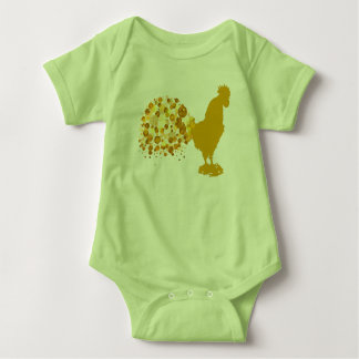2017 Chinese New Year Of Rooster Zodiac Animal Baby Bodysuit