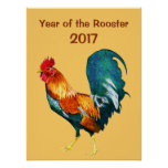 2017 Chinese New Year of the Red Rooster Poster