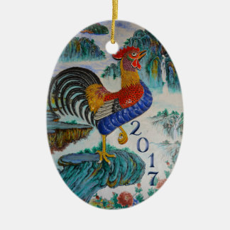2017 Chinese Year of the Rooster, Optional Photo Christmas Ornament