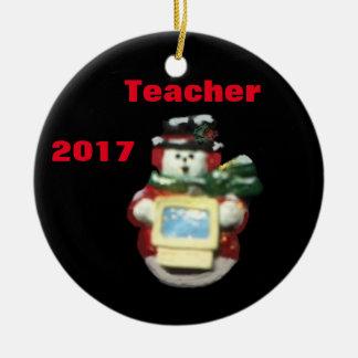 2017 COMPUTER SNOWMAN TEACHER XMAS ORNAMENT