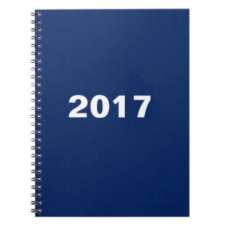 2017 Design Custom Template Blue Notebooks
