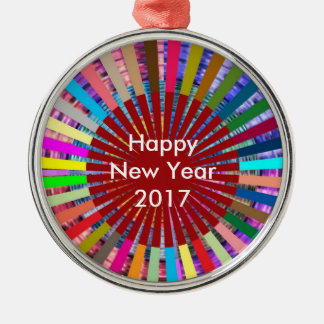 2017  DIY Template EDITable TEXT add photo image N Silver-Colored Round Decoration