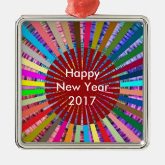 2017  DIY Template EDITable TEXT add photo image N Silver-Colored Square Decoration