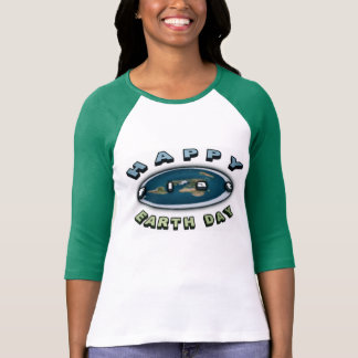 2017 Earth day Top Happy FLAT earth day tee