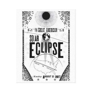 2017 Eclipse Showprint-Style Poster Canvas Print