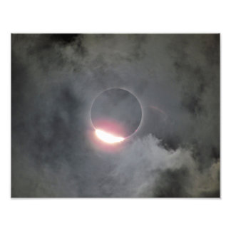 2017 Eclipse With Diamond Ring Photo Print