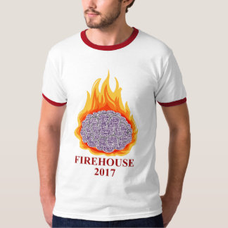 2017 Flaming Brain Men's Ringer Tee
