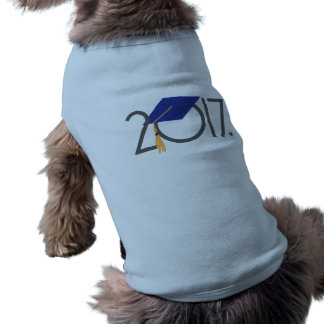 2017 Graduate Design Pet Tank Shirt Sleeveless Dog Shirt