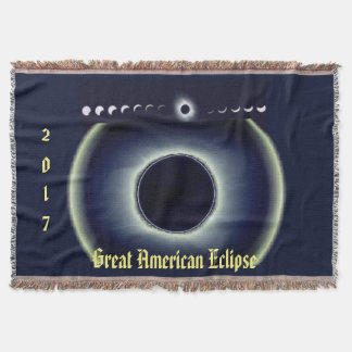 2017 Great American Eclipse Throw Blanket