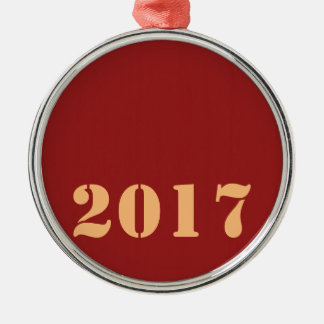 2017 Happy NEW YEAR Template editable text Christmas Ornament
