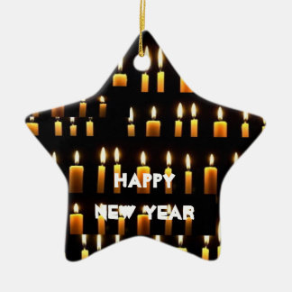 2017 HAPPY NEWYEAR Nameste  Candle Decorations Ceramic Star Decoration