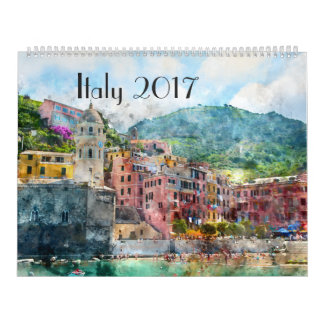 2017 Italy Art Watercolor Calendar