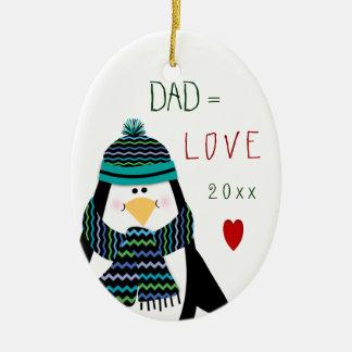 2017 Love DAD Penguin Christmas Gift Christmas Ornament