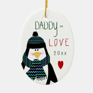 2017 Love DADDY Penguin Christmas Gift Christmas Ornament