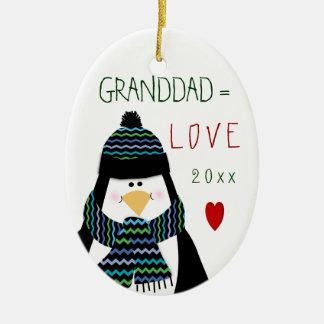 2017 Love GRANDDAD Penguin Christmas Gift Christmas Ornament