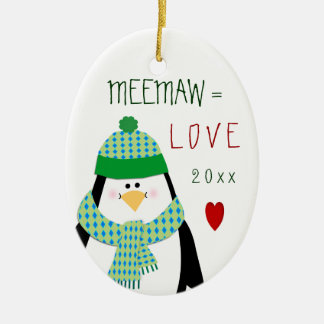 2017 Love Grandmom or Other Penguin Christmas Gift Christmas Ornament