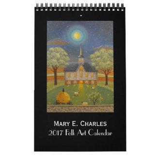 2017 Mary Charles Folk Art Calendar