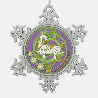 2017 Mink Holidaze Xmas Ornament Green/Purple