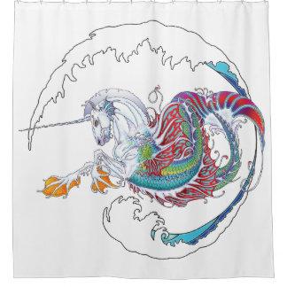 2017 Mink Nest Hippicorn Shower Curtain 2