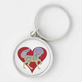 2017 Mink Style Runequine Heart Metal Keychain 1