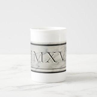 2017 MMXVII Marble Tea Cup