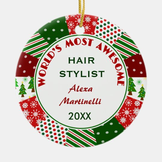 2017 Most Awesome Hair Stylist Christmas gift Christmas