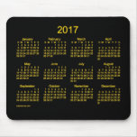 2017 Neon Gold Calendar by Janz Mouse Pad