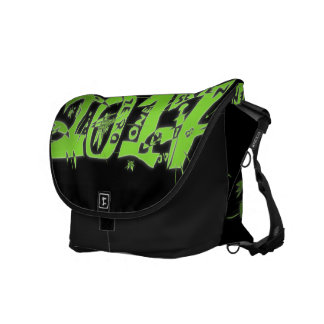 2017 neon green courier bags