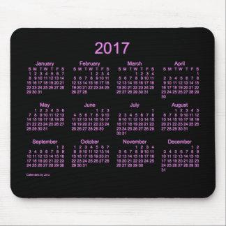 2017 Neon Purple Calendar by Janz Mouse Pad