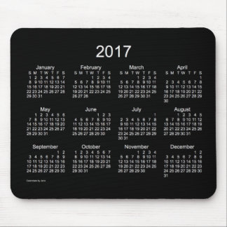 2017 Neon White Calendar by Janz Mousepad