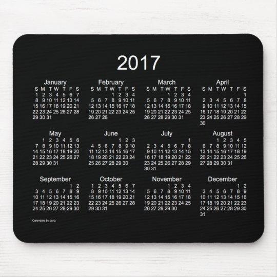 2017 Neon White Calendar by Janz Mousepad