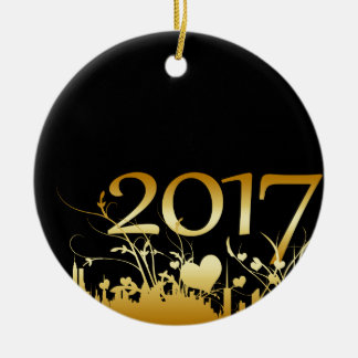 2017 New Year's Graphic Christmas Ornament