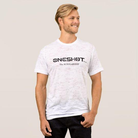 2017-ONESHOT Scholarship Men's burnout t-shirt