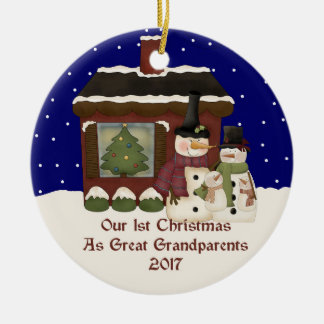 2017 Our 1st Christmas As Great Grandparent Christmas Ornament