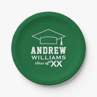 2017 Personalized Graduation Plates | Green