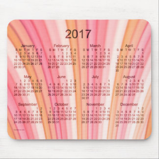 2017 Pink Rainbow Art Calendar by Janz Mousepad
