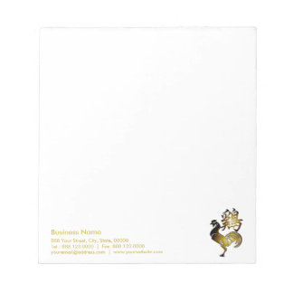 2017 Rooster Chinese Sign and Calligraphy Notepad