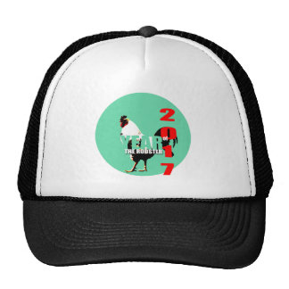 2017 Rooster Year in Green Circle hat