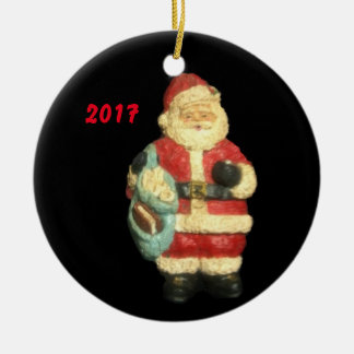 2017 SANTA WITH MAPS CHRISTMAS COLLECTOR ORNAMENT