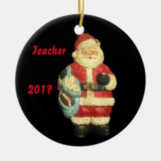 2017 SANTA WITH MAPS  TEACHER CHRISTMAS  ORNAMENT