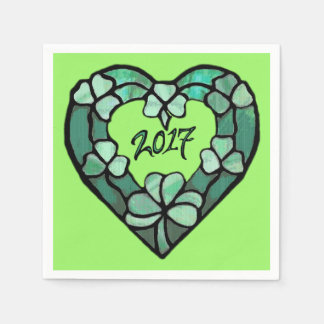 2017 Shamrock Heart Paper Napkin